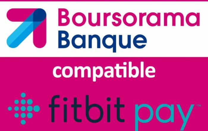 Boursorama compatible fitbit pay
