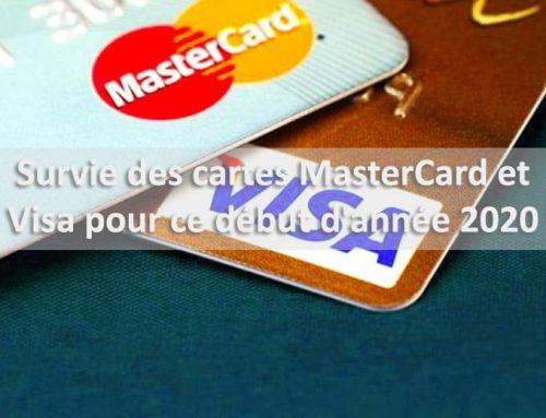 Survie des cartes MasterCard et Visa pour ce début d'année 2020