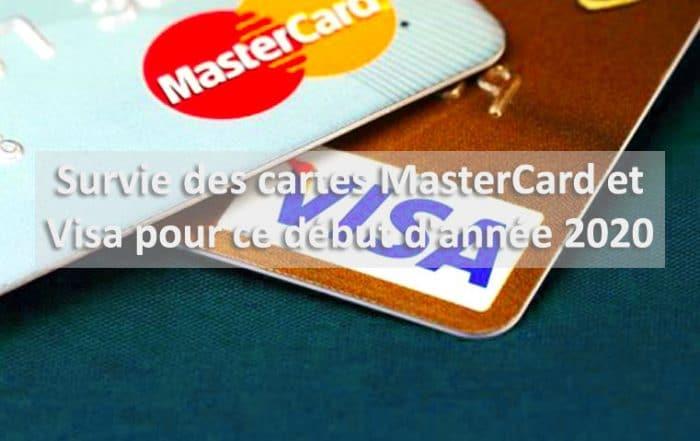 Début année 2020 survie de Mastercard et Visa