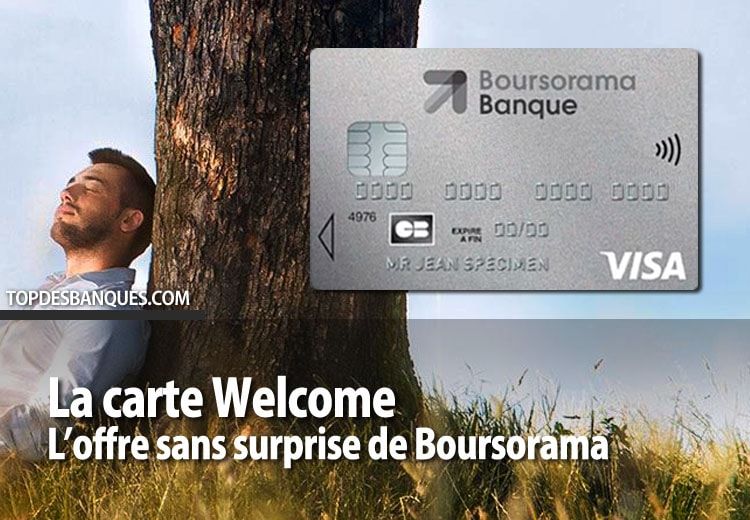 Offre Welcome de Boursorama